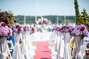 outdoor waterfront wedding